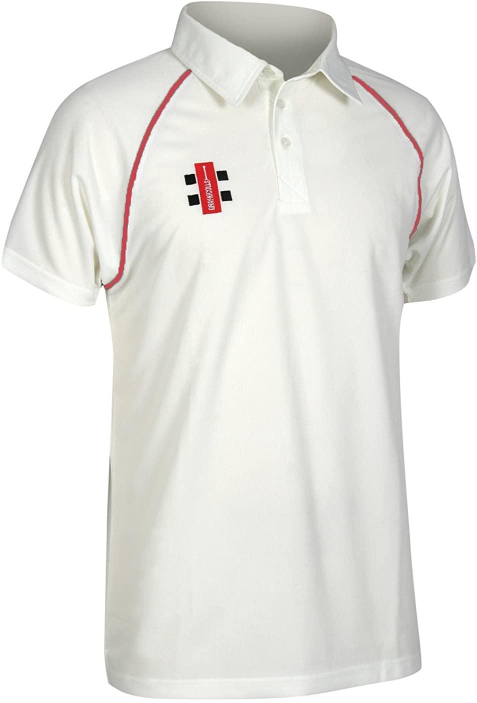 Gray Nicolls Childrens/Kids Matrix Short Sleeve Cricket Shirt