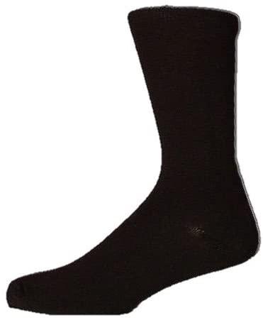 Mens Black Socks Big Foot Size 11 12 13 14 100% Cotton