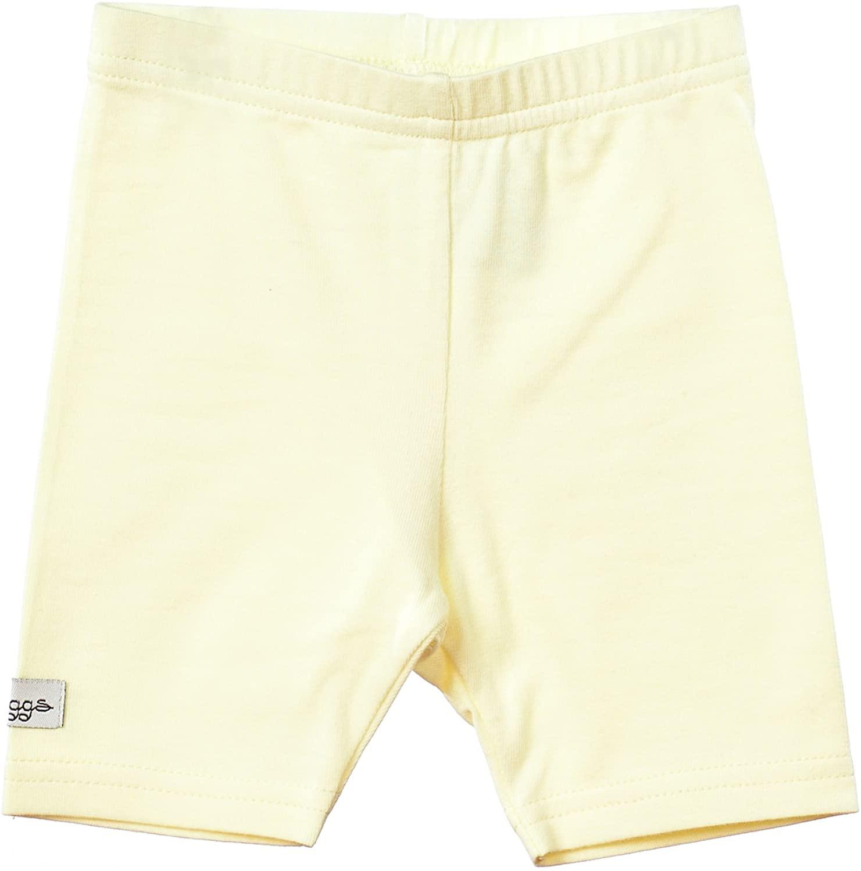 Lil Leggs Unisex Boys Girls Cotton Short Leggings - Pale Yellow, 24 Months