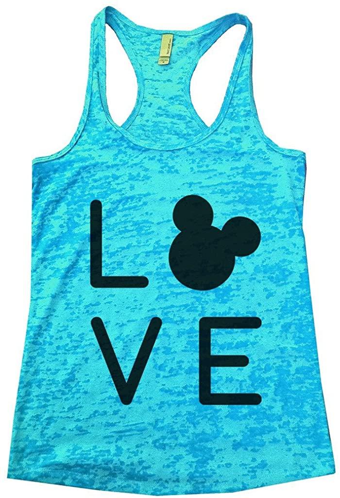 Disney Tank Top Womens t Shirt Fitness Workout Burnout Racerback Tank Top Love Disney