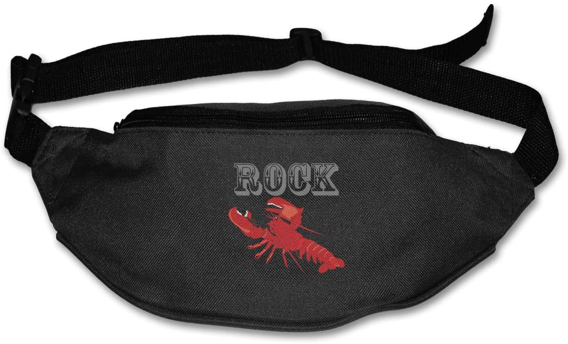 SWEET-YZ Unisex Waist Pack Rock Red Lobster Flat Fanny Bag Pack for Sport Running