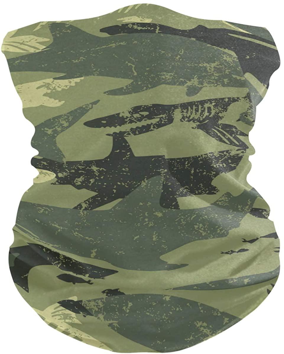 Unisex Balaclava Face Covers Scarf Novelty Bandana Masks Headband Camouflage Shark Vintage Dust Wind Sun Magic Headwear For Men Women Boys Girls