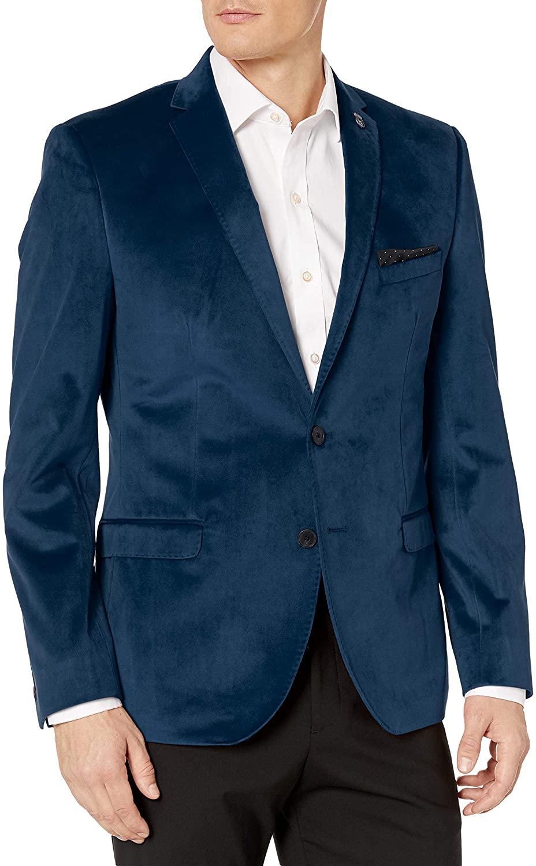 Nick Graham Men's Velvet Blazer, Blue, 36R