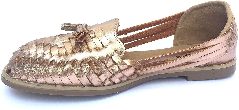 Women Mexican Huaraches Sandals (6) Gold