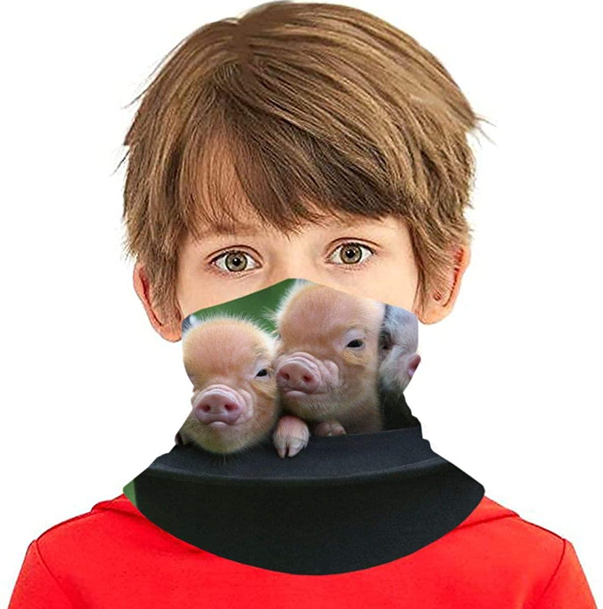 Youth Face Bandanas, Teacup Pigs Reusable Face Mask Half Face Towel Mouth Cloth Facial Scarf Variety Headscarf