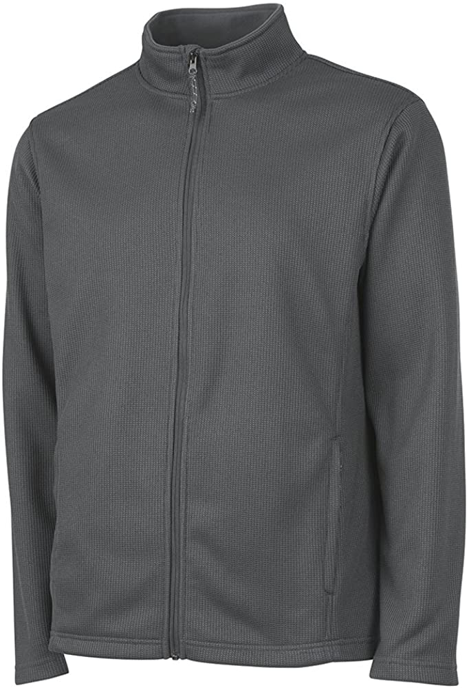 Charles River Apparel Mens Heritage Rib Knit Full Zip Jacket