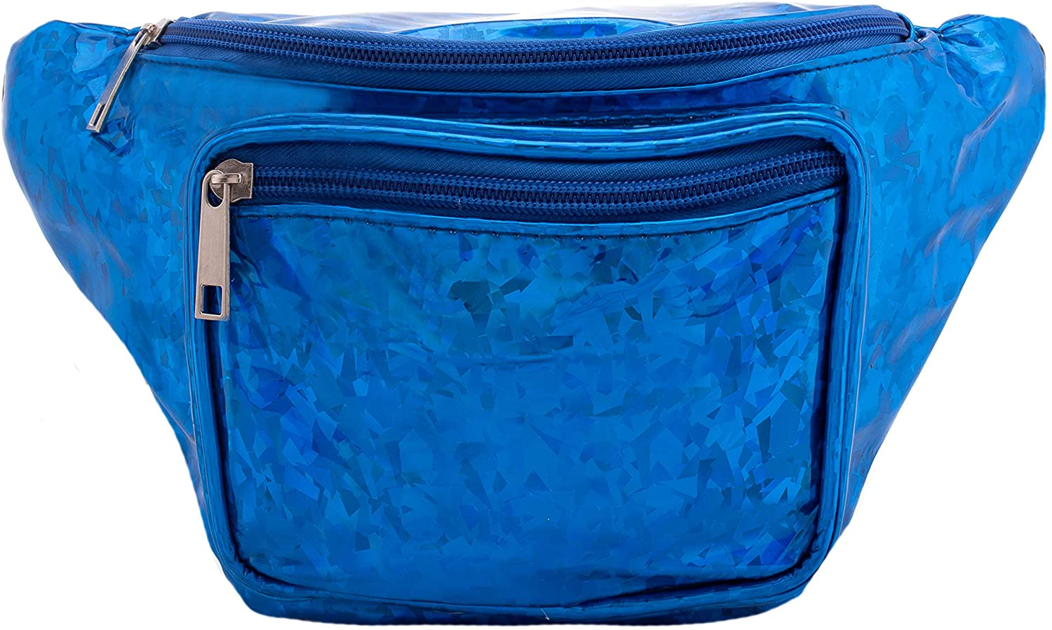 Holographic Fanny Waist Pack Bag - Holographic Confetti - Blue