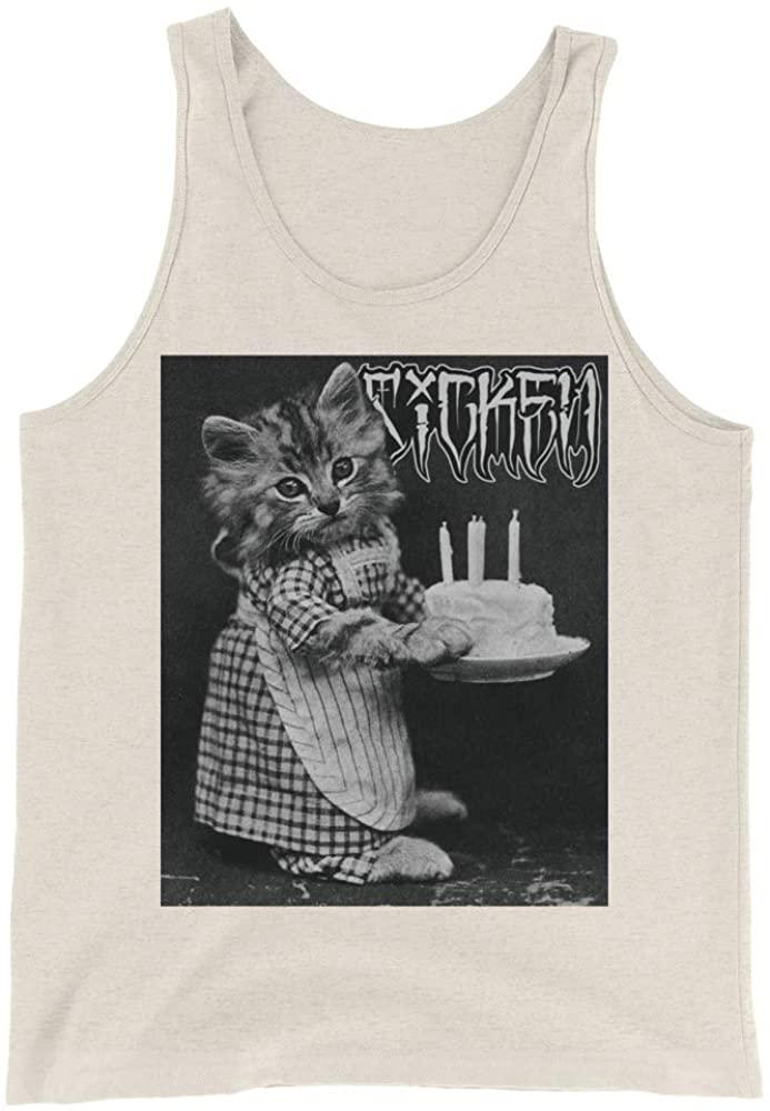 Sicken Clothing Happy Birthday Men's Tank with Funny Cat