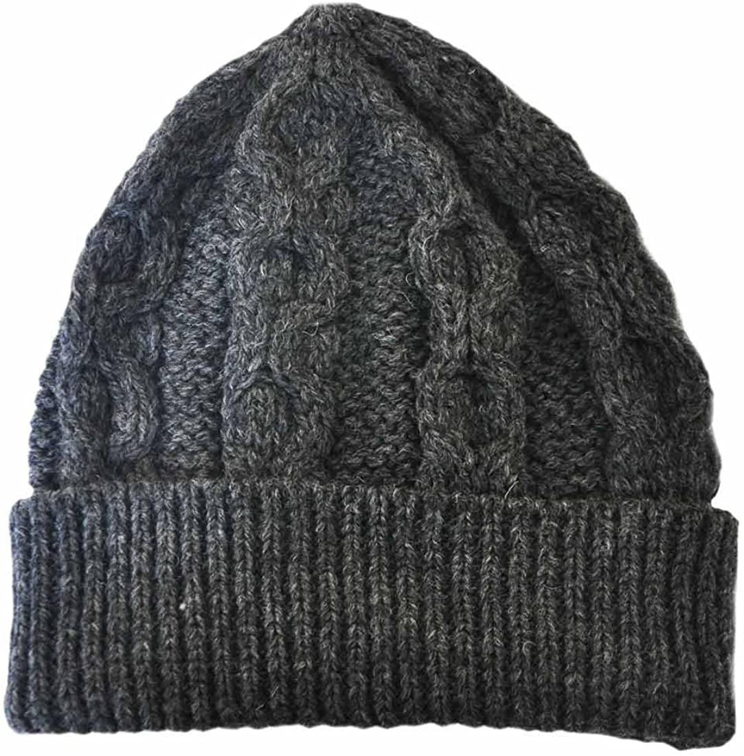 Aran Crafts Merino Wool Knit Hat, Charcoal