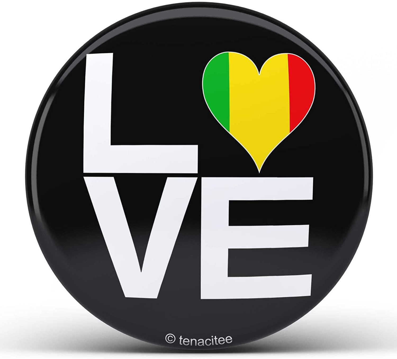 Tenacitee Love Block Mali Heart Pinback Button