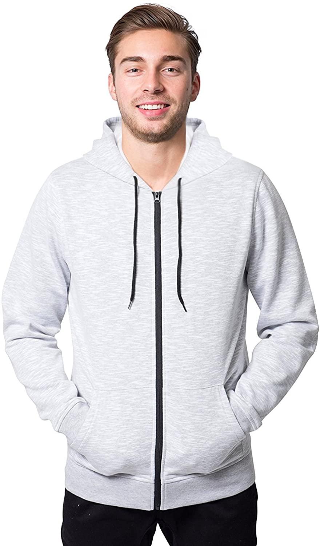 Brooklyn Athletics Men's Fleece Hoodie Full Zip Active Hooded Sweatshirt