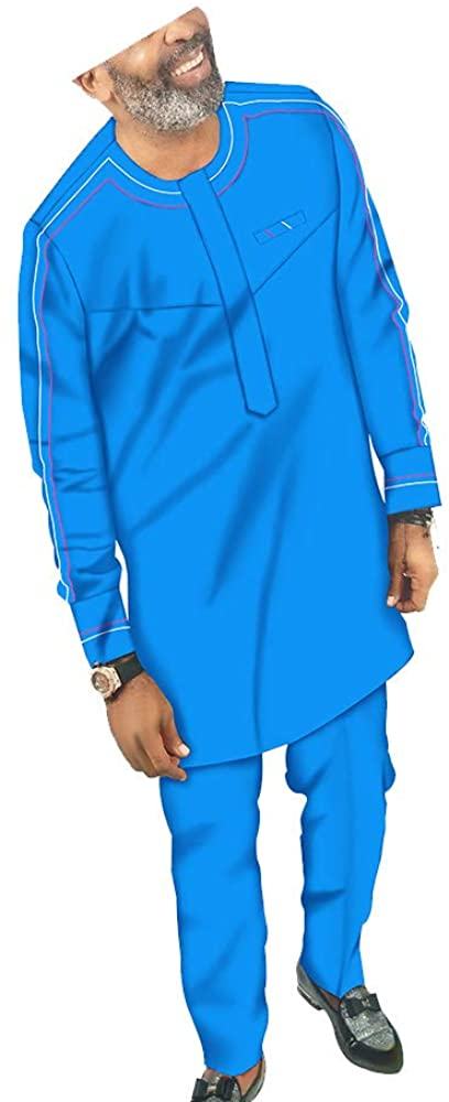 African Men Clothing Set Coats and Pants 2 Piece Set Dashiki Outwear Traditional Outfits Plus Size Jacket Crop Top