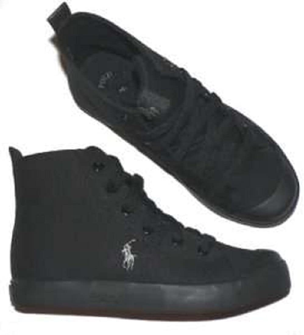 Polo Ralph Lauren Conrad shoes youth boys girls black ,size 3.5