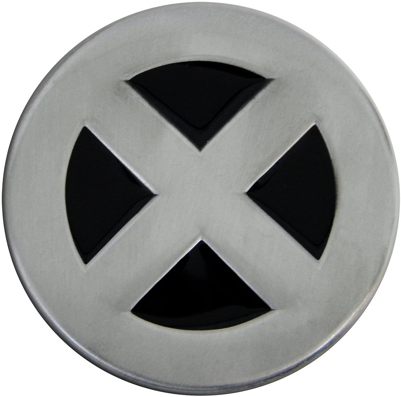 Fun Buckles Unisex-Adult's X-Man Die Cast Pewter Finish Enameled Belt Buckle Silver
