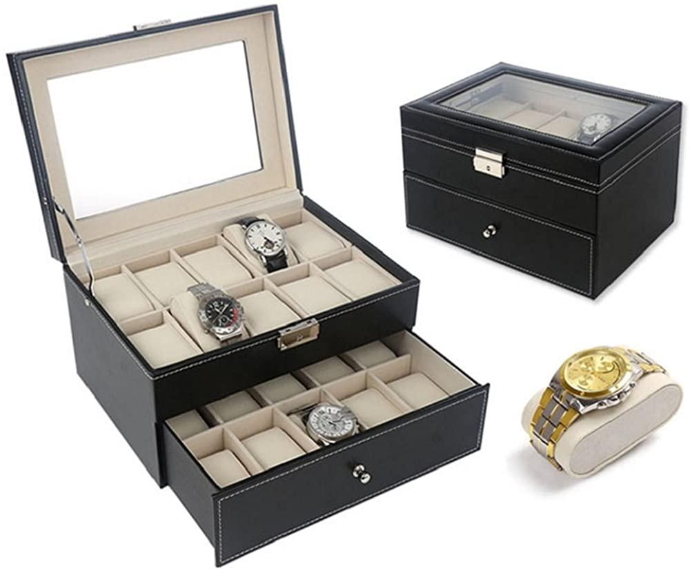 Watch Box Case Cabinet Black