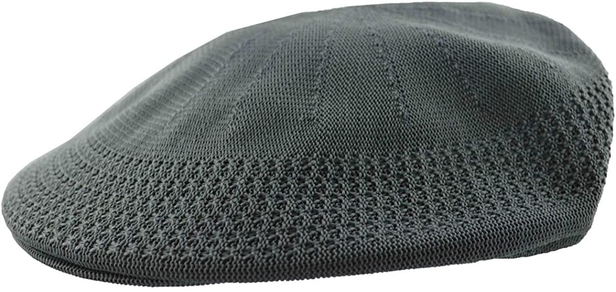 MLN Men's Mesh Ivy Cabbie Cap Charcoal Gray