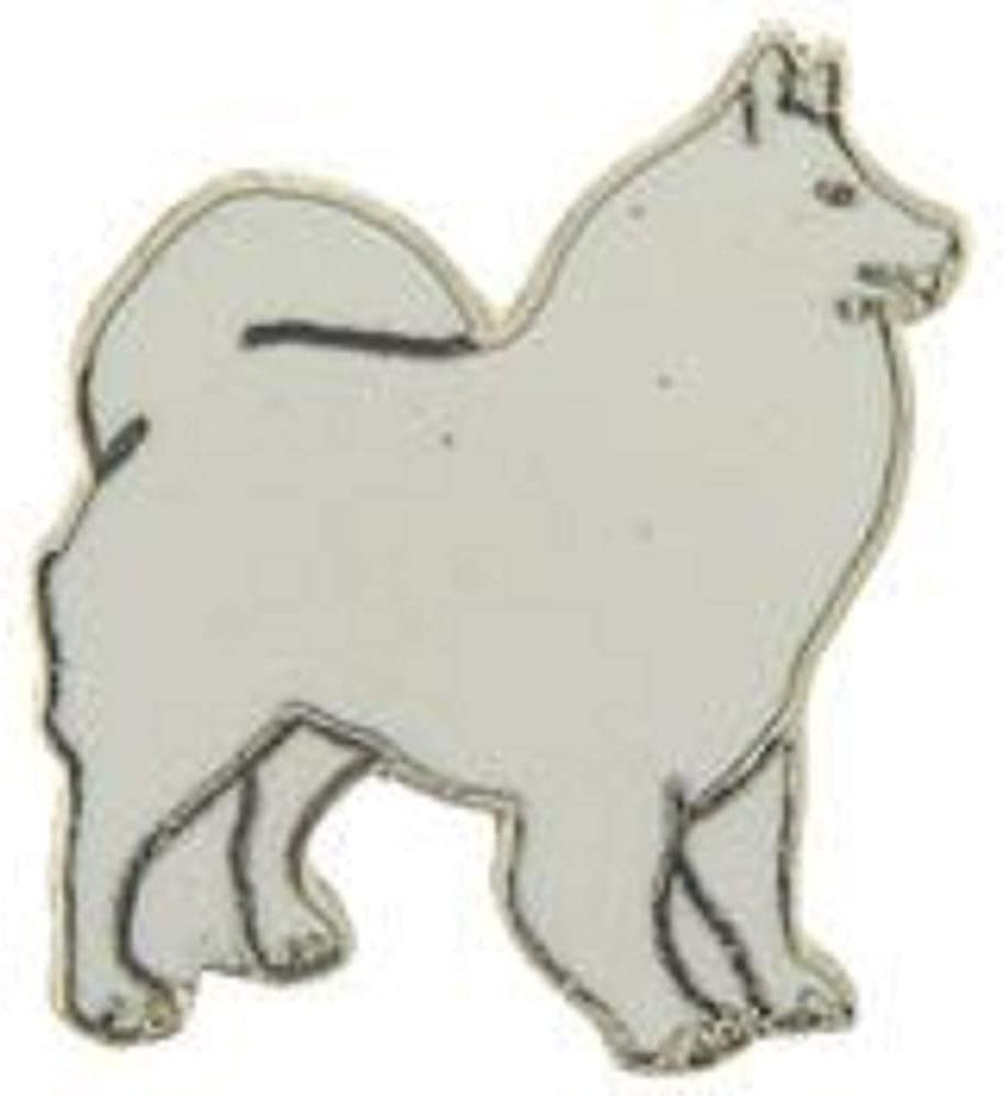 DOG SAMOYED - Officially Licensed Original Artwork, Expertly Designed Pin - 1