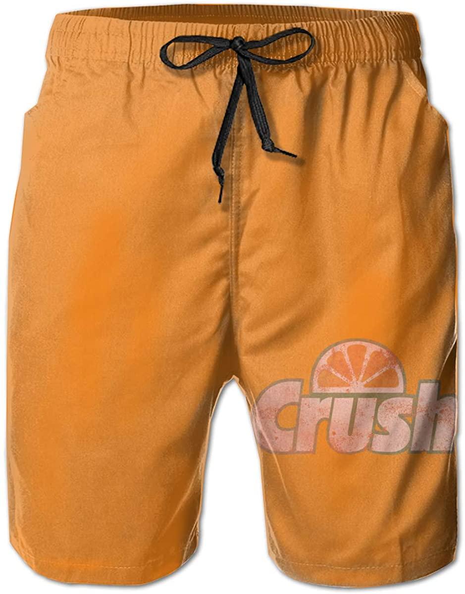 Men's Orange Crush Quick Dry Classic Logo Series Swim Trunk.