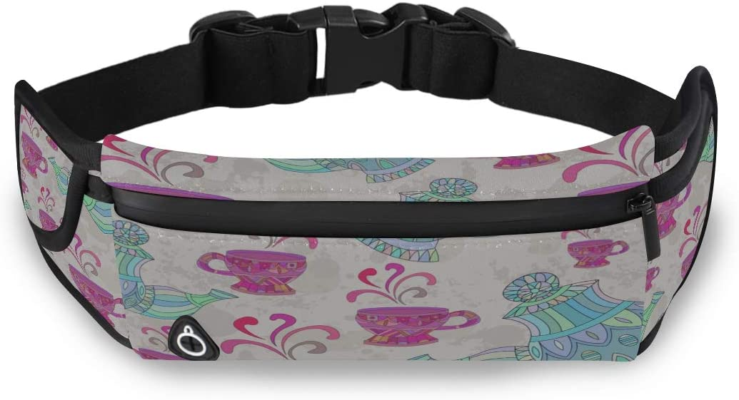 Delicate Elegant Teacup Fanny Pack Waist Womens Waist Bag Fashion Bag Men With Adjustable Strap For Workout Traveling Running