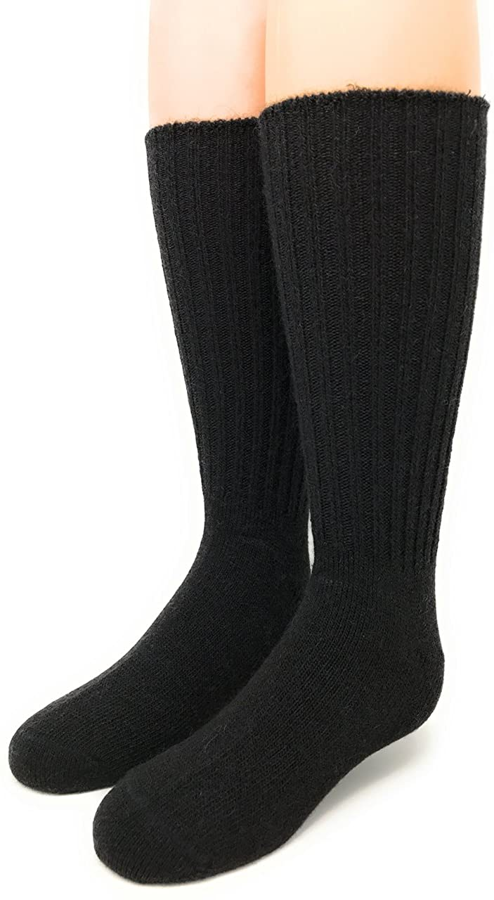 Warrior Alpaca Socks - Superfine Alpaca Wool Socks - Cuff-able Crew - Solid – Ribbed