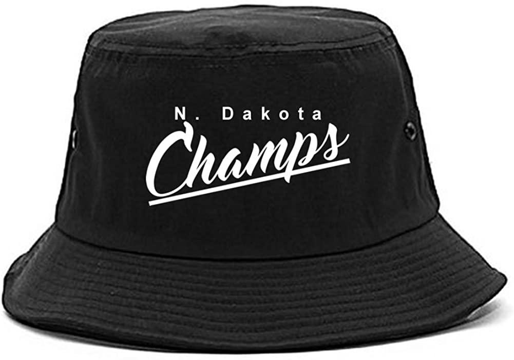 ND North Dakota Champs Champions State Script Bucket Hat