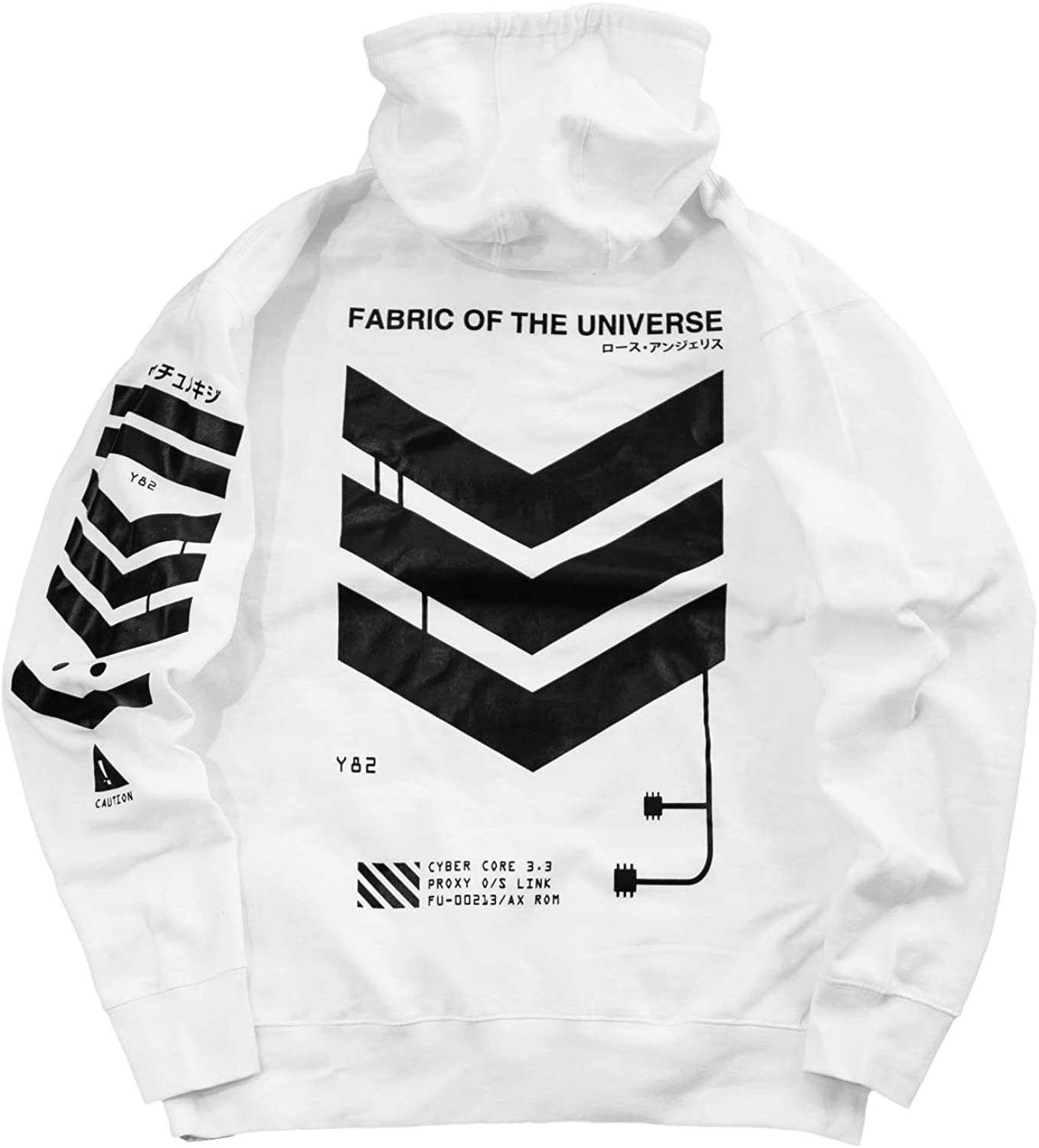 Fabric of the Universe Techwear Cyberpunk Graphic Streetwear Fashion Hoodie Hooded Pullover Sweatshirt