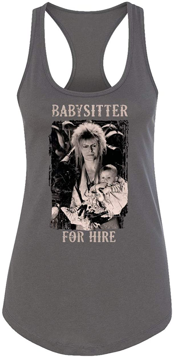 RIVEBELLA Babysitter for Hire Labyrinth Ladies Racerback Tank Top