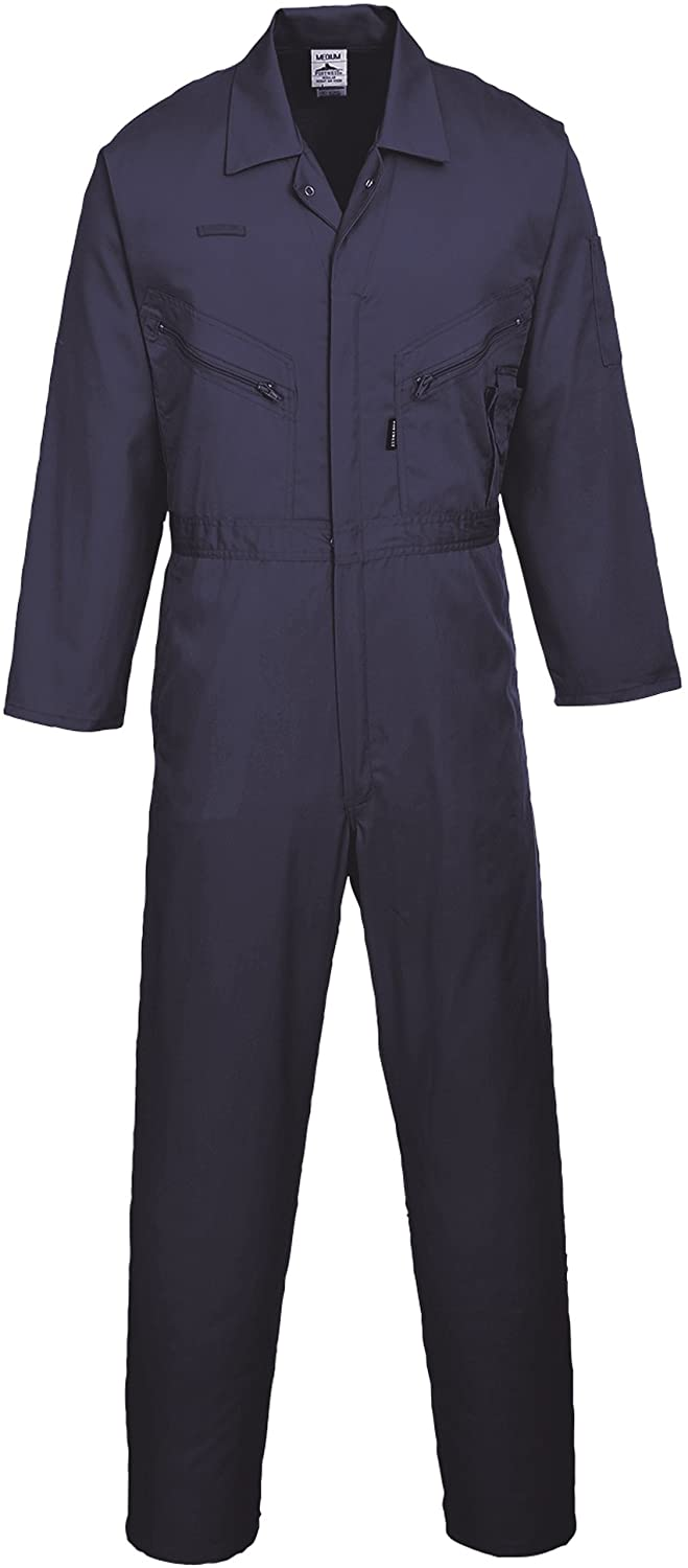 Portwest Mens Liverpool Zip Up Protective Workwear Coverall