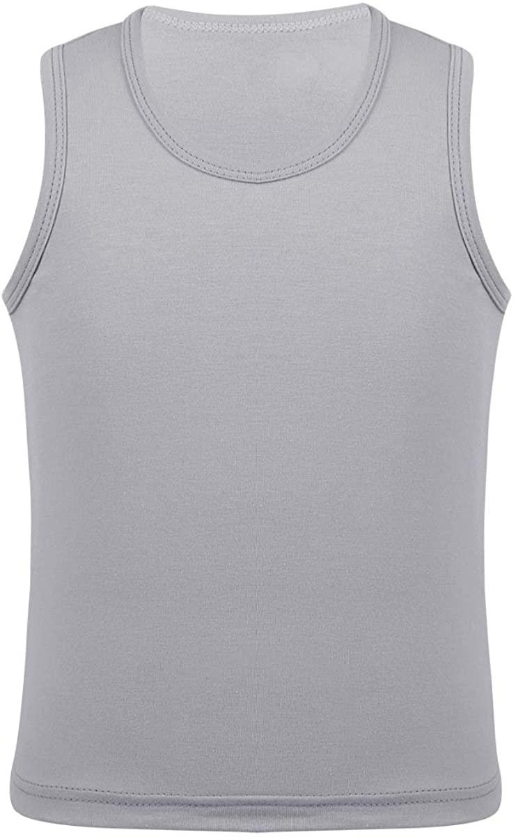 ACSUSS Kids Girls Cotton Tank Tops Vest Soft Sleeveless Undershirt Dancewear Workout Fitness Sports Activewear