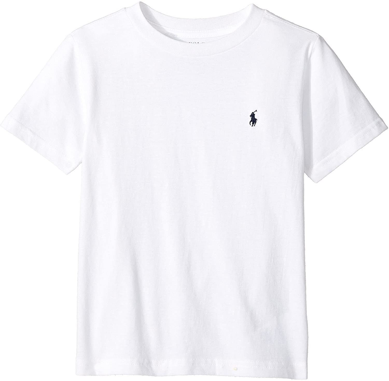 Polo Ralph Lauren Kids Boy's Cotton Jersey Crew Neck T-Shirt (Little Kids/Big Kids) White 5 Little Kids