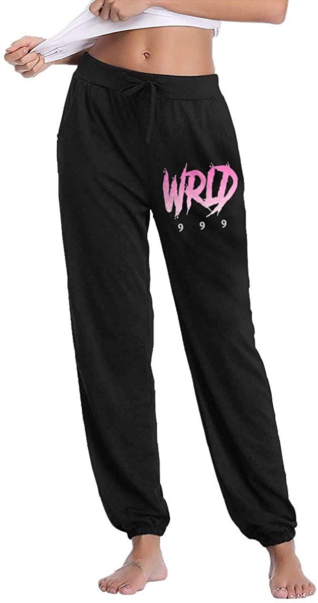 Vonicap Juice Wrld Women's Casual Drawstring Waistband Long Pocket Sports Pants