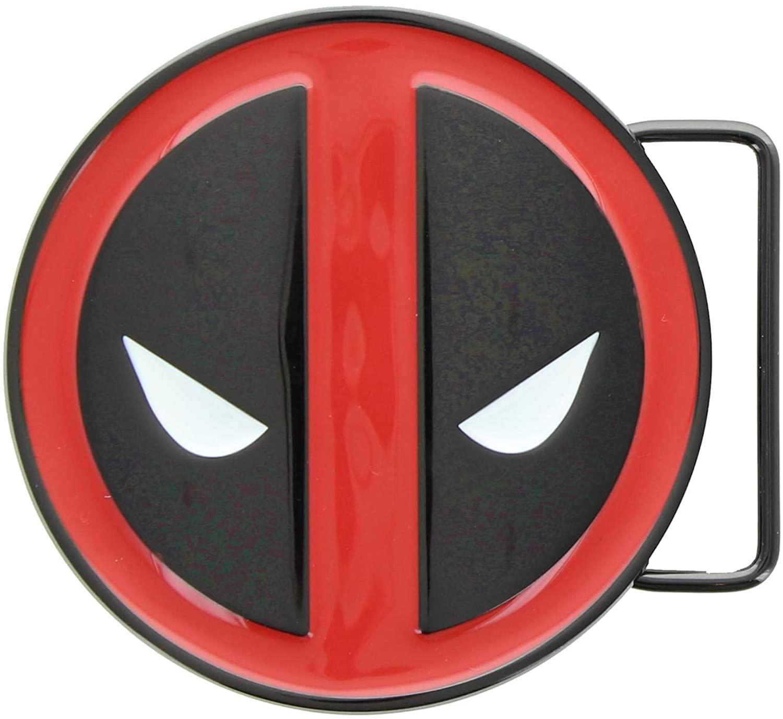 Marvel's Deadpool Enamel Gun Metal Belt Buckle Red
