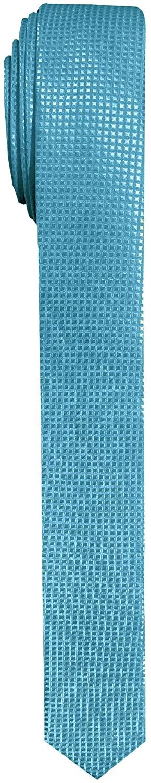 Jacob Alexander Men's Ultra Skinny Woven Subtle Mini Squares Neck Tie - Turquoise
