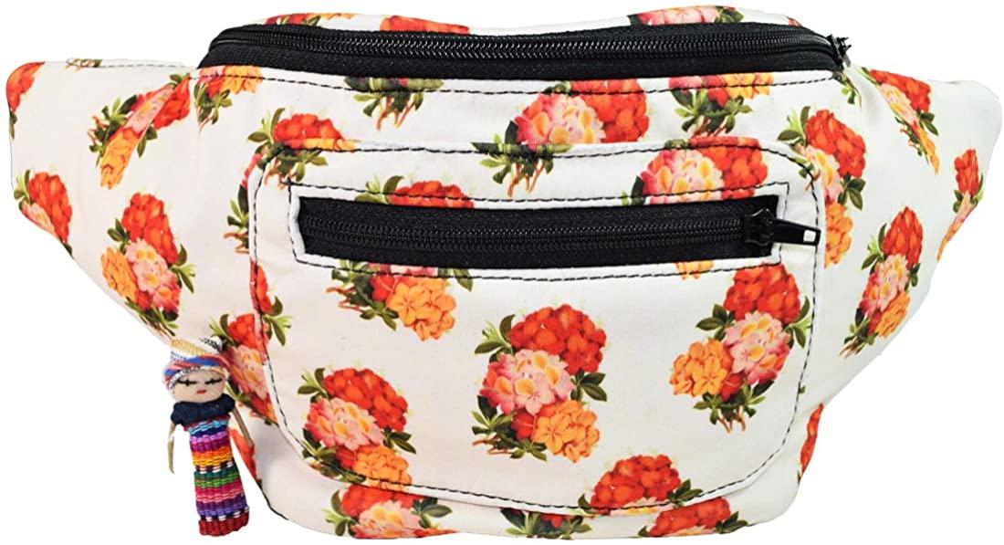 Vintage Floral Fanny Pack, Boho Chic Handmade w/Hidden Pocket