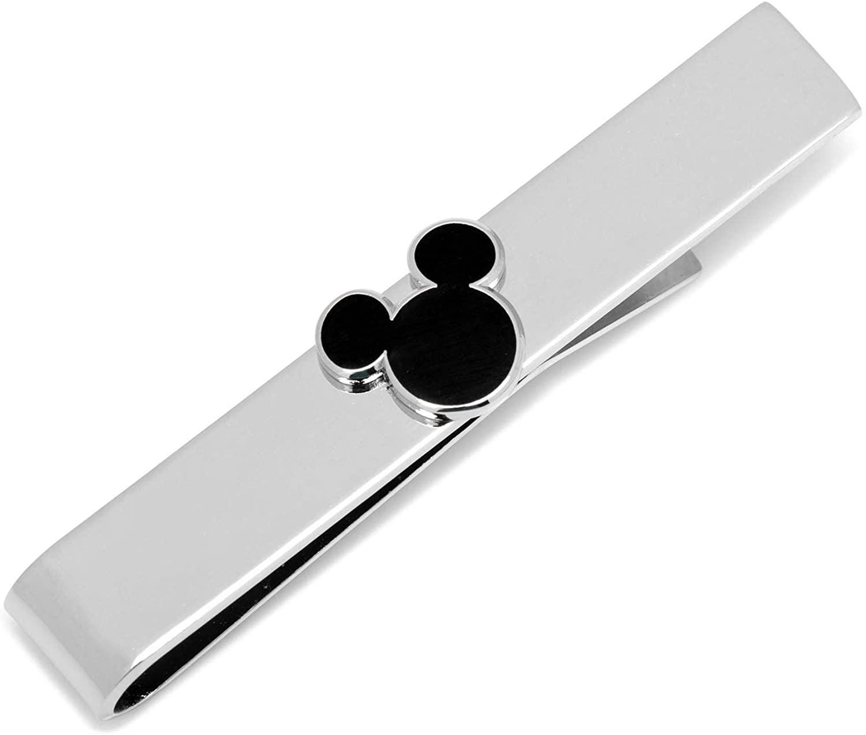 Disney Mickey Mouse Black Silhouette Tie Bar