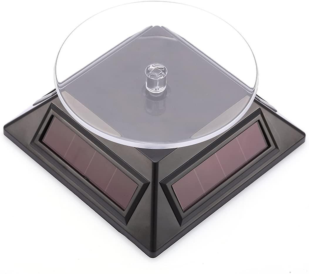 10L0L 360 ¡ã Rotary Phone Jewelry Boutique Visualizers Solar Rotation Showcase(Black)
