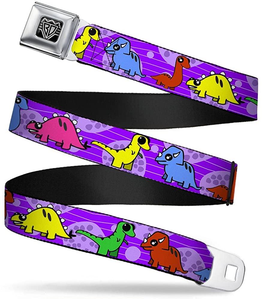 Buckle-Down Seatbelt Belt - Dinosaur Cartoon - 1.0 Wide - 20-36 Inches in Length
