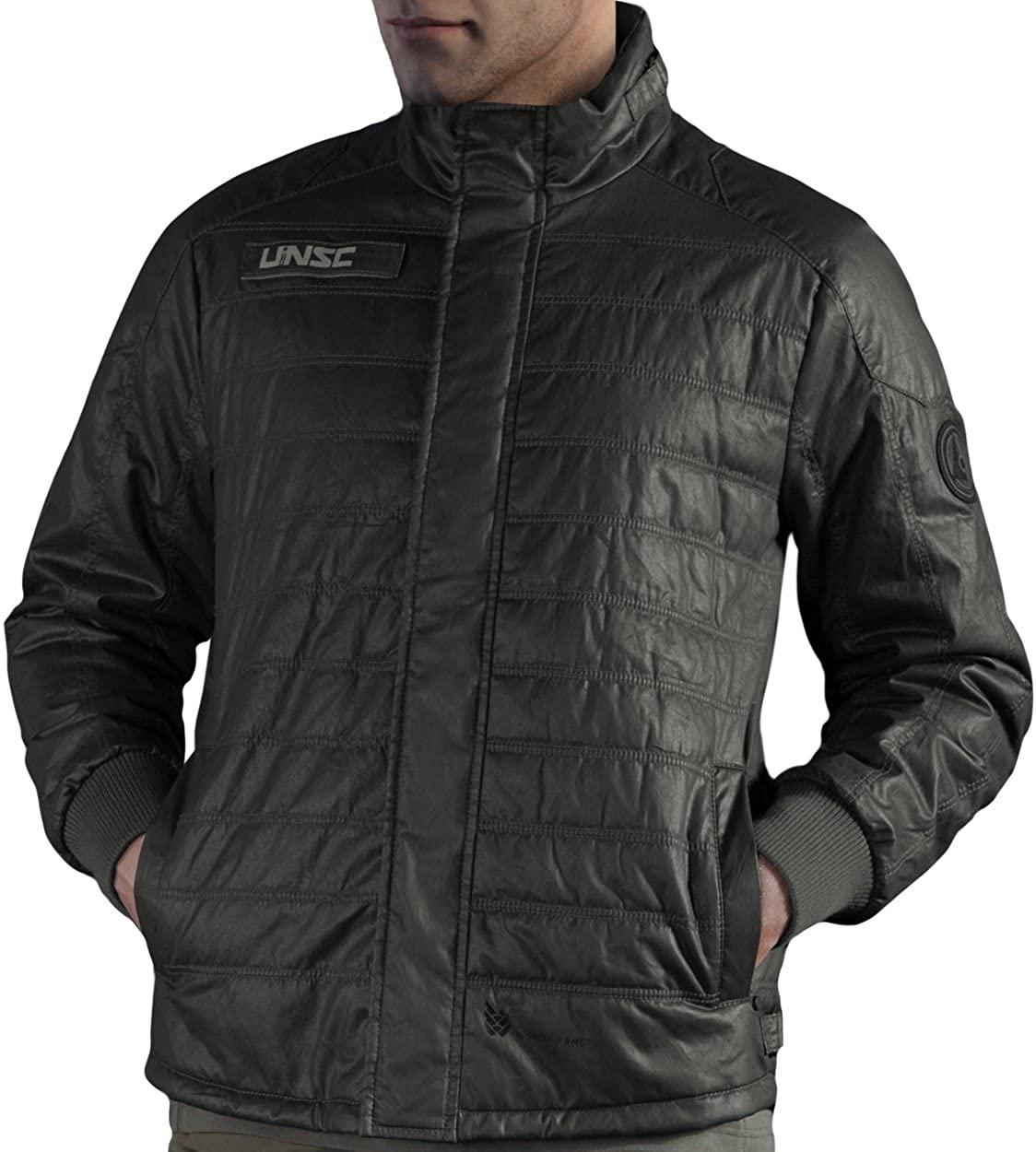 Musterbrand Halo Men Long Winter Jacket Flight Deck Officer Green
