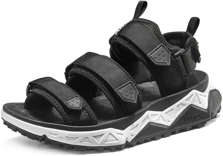 RAX Men's Cushioning Three-Strap Sport Sandal Outoor Antiskid Hiking Sandal
