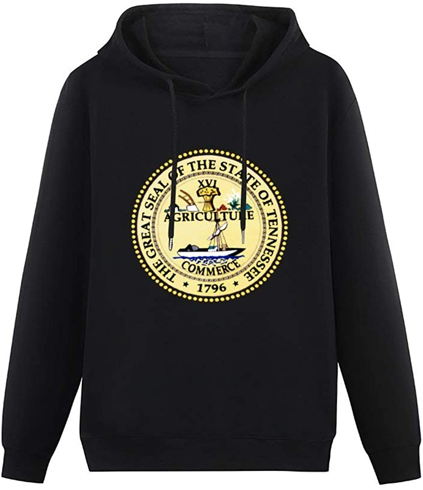 Pit Single-Sided Printing Pocketless Sweater for Women The Great Seal of The State of Tennessee Casual Printed Cotton