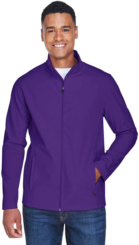 Team 365 Men's Leader Soft Shell Jacket, Sport Purple, Medium