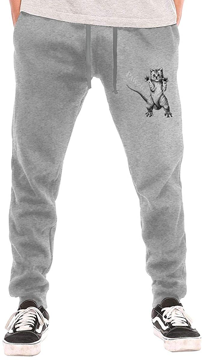 Cat Dinosaur Men Jogger Sweatpants Sports Long Tights Pants