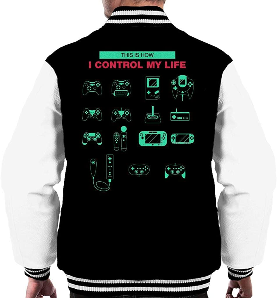 CHAOSHJU This is How I Control My Life Consoles Men's Varsity Jacket