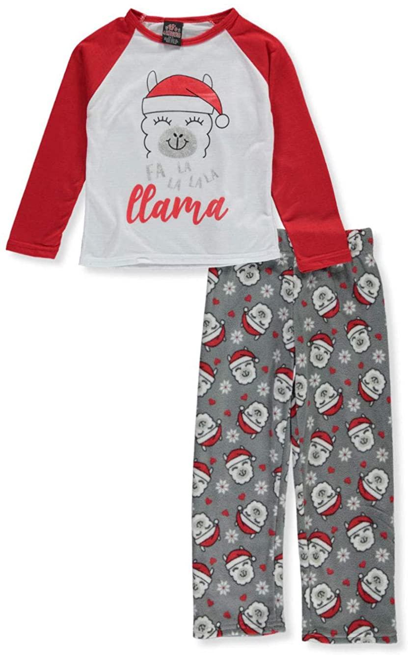 PJ's & Presents Girls' FA la la la Llama 2-Piece Pajamas