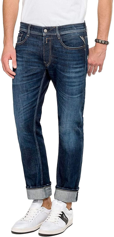 Replay Men's Rocco Comfort Stretch Denim Jeans, Blue