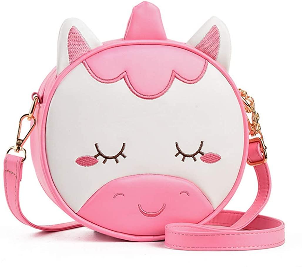 Kids Cute Unicorn Crossbody Novelty Purse Bag PU Leather Shoulder Bag Handbag for Teens Girls Women