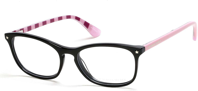 Eyeglasses Victoria's Secret VS 5007 01A Black W/Strip Pattern Temple Inside Go