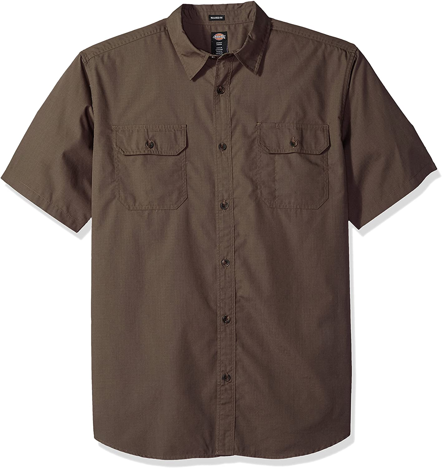 Dickies Mens Relaxed Fit Ripstop Short Sleeve Shirt