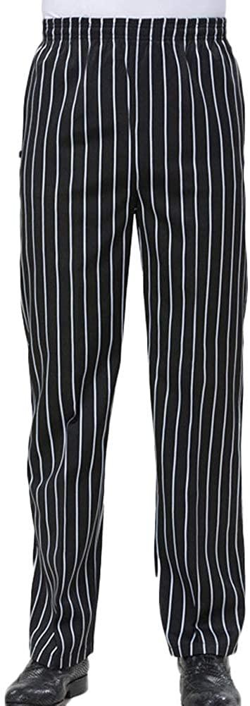 Nanxson Chef Pants Trousers Uniform Men's Unisex Hotel/Kitchen Elastic Waist Work Pants CFM2004