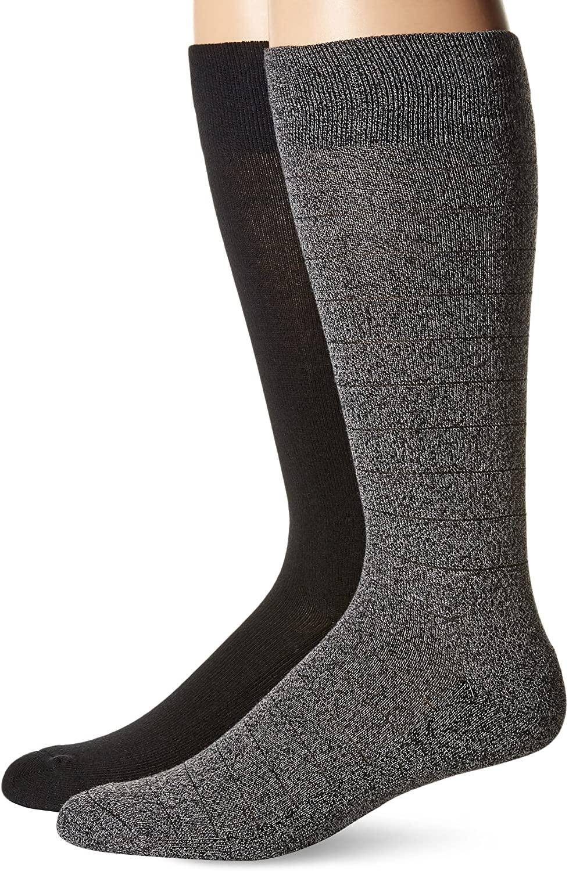 Dr. Scholl's Ultra Comfort Diamond Marl Crew Socks 2 Pair